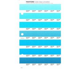 Pantone PMS Solid Chips vervangingspagina op uncoated papier 150U, kleurnummers 2197U - 2198U - 2199U - 2200U - 2201U - 2202U - 2203U