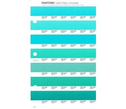 Pantone PMS Solid Chips vervangingspagina op uncoated papier 166U, kleurnummers 2397U - 2398U - 2399U - 2400U - 2401U - 2402U - 2403U