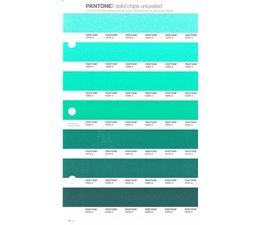 Pantone PMS Solid Chips vervangingspagina op uncoated papier 181U, kleurnummers 3375U - 3385U - 3395U - 3405U - 3415U - 3425U - 3435U