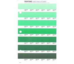 Pantone PMS Solid Chips vervangingspagina op uncoated papier 184U, kleurnummers 344U - 345U - 346U - 347U - 348U - 349U - 350U