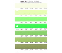 Pantone PMS Solid Chips vervangingspagina op uncoated papier 194U, kleurnummers 7485U - 7486U - 7487U - 7488U - 7489U - 7490U - 7491U