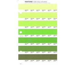 Pantone PMS Solid Chips vervangingspagina op uncoated papier 196U, kleurnummers 365U - 366U - 367U - 368U - 369U - 370U - 371U
