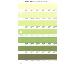 Pantone PMS Solid Chips vervangingspagina op uncoated papier 201U, kleurnummers 580U - 579U - 578U - 577U - 576U - 575U - 574U