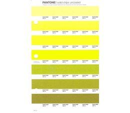 Pantone PMS Solid Chips vervangingspagina op uncoated papier 211U, kleurnummers 393U - 394U - 395U - 396U - 397U - 398U - 399U