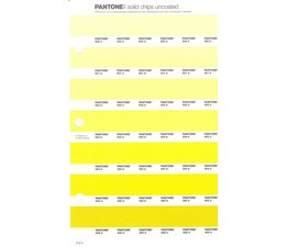 Pantone PMS Solid Chips vervangingspagina op uncoated papier 213U, kleurnummers 600U - 601U - 602U - 603U - 604U - 605U - 606U
