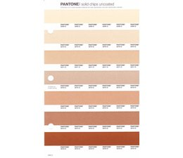Pantone PMS Solid Chips vervangingspagina op uncoated papier 230U, kleurnummers 2309U - 2310U - 2311U - 2312U - 2313U - 2314U - 2315U