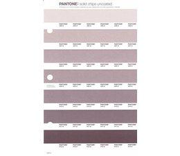 Pantone PMS Solid Chips vervangingspagina op uncoated papier 243U, kleurnummers 406U - 407U - 408U - 409U - 410U - 411U - 412U