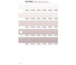 Pantone PMS Solid Chips vervangingspagina op uncoated papier 245U, kleurnummers Warm Gray 1U