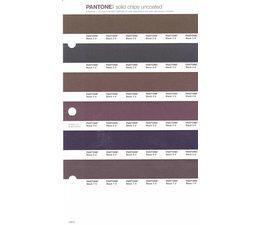 Pantone PMS Solid Chips vervangingspagina op uncoated papier 249U, kleurnummers Black 2U - Black 3U - Black 4U - Black 5U - Black 6U - Black 7U