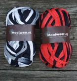 Breigaren zwart/wit en rood