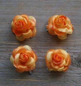 Kleine oranje bloemetjes (4 stuks)