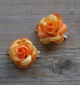 Kleine oranje bloemetjes (2 stuks)
