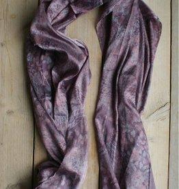 Aubergine sjaal (glanzend)