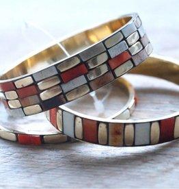 Armbanden in bruine en terra tinten (3 st)