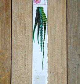 Groene veerextensions 4 tot 6 - los (Large)
