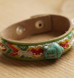 Mintgroen Buddha armbandje