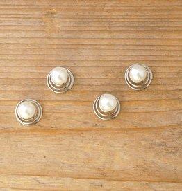 Haarspiraaltjes met pareltjes (4 st)
