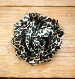 Dierenprint corsage (bruin/creme)