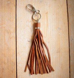 Bruine hanger met franje