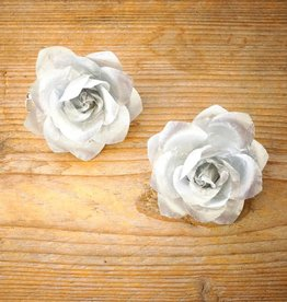 Zilverkleurige bloemetjes (2 st)