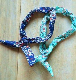 Donkerblauw en turquoise bunny haarbandje