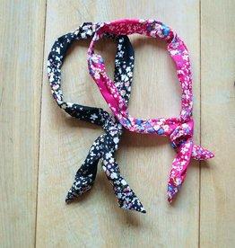 Roze en zwart bunny haarbandje