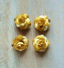 Goudkleurige bloemetjes (4 st)