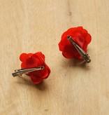 Kleine rode bloemetjes (2 st)