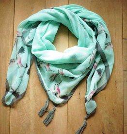 Vierkante sjaal vogels