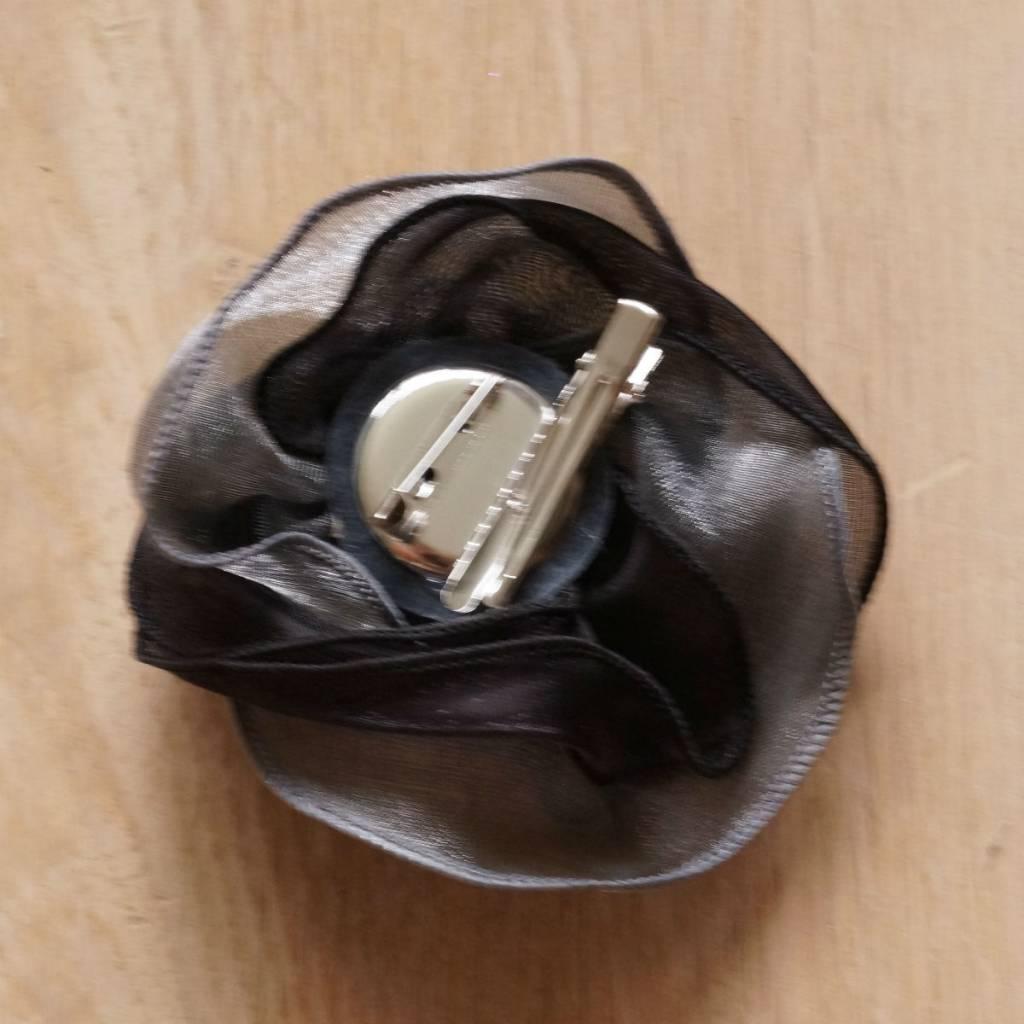 Zwart/grijze corsage
