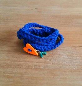Kobaltblauw wikkelarmbandje (dochter)