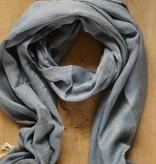 Jeansblauwe sjaal