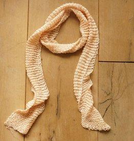Zalmkleurige smalle sjaal