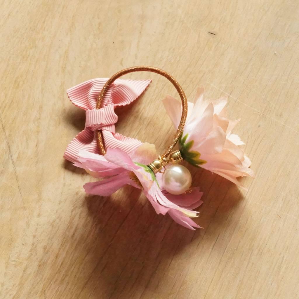Bloemelastiek roze/zalm