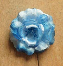 Blauwe corsage