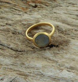 Treasure Rookie Ring Full Moon labradorite