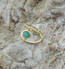 Treasure Rookie Wink eye ring chrysoprase