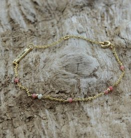Treasure Rookie Deep dive licht roze armband
