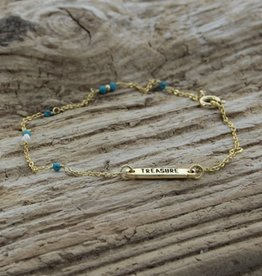 Treasure Rookie Deep dive licht blauwe armband