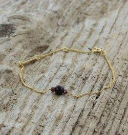 Treasure Rookie Wanderlust donker paarse armband