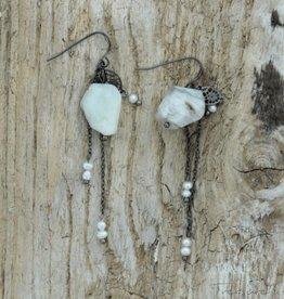 Treasure Rookie Pacific Pearls oorbellen wit