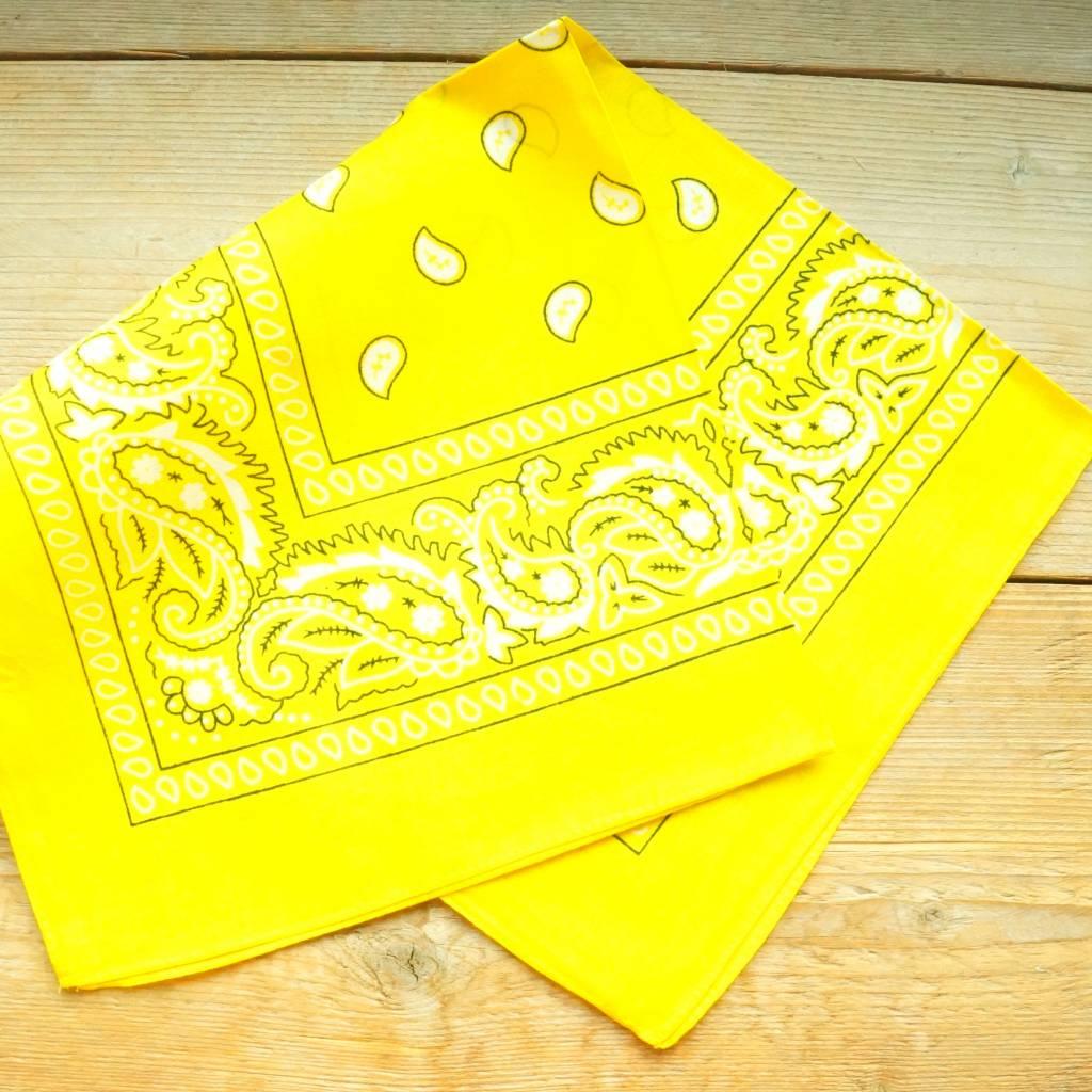Gele bandana