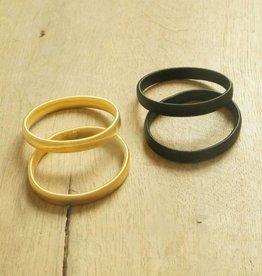 Mouwophouders (zwart & goudkleurig)