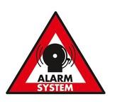 Sticker alarm systeem 123 x 148 mm