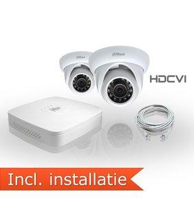 Dahua HDCVI Pakket 2 Camera's Inclusief Installatie