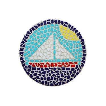 Cristallo Mosaik Bastelset Wandschilder Segelboot