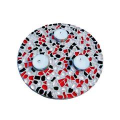 Cristallo Mosaikbastelset Teelichthalter Rot-Schwarz-Weiss