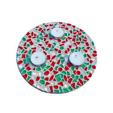 Cristallo Mosaik Bastelset Teelichthalter Weihnachten