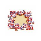 Cristallo Mosaikbastelset Bilderrahmen Stern Rot-Weiss-Lila