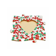 Cristallo Mosaikbastelset Bilderrahmen Herz Weihnachten